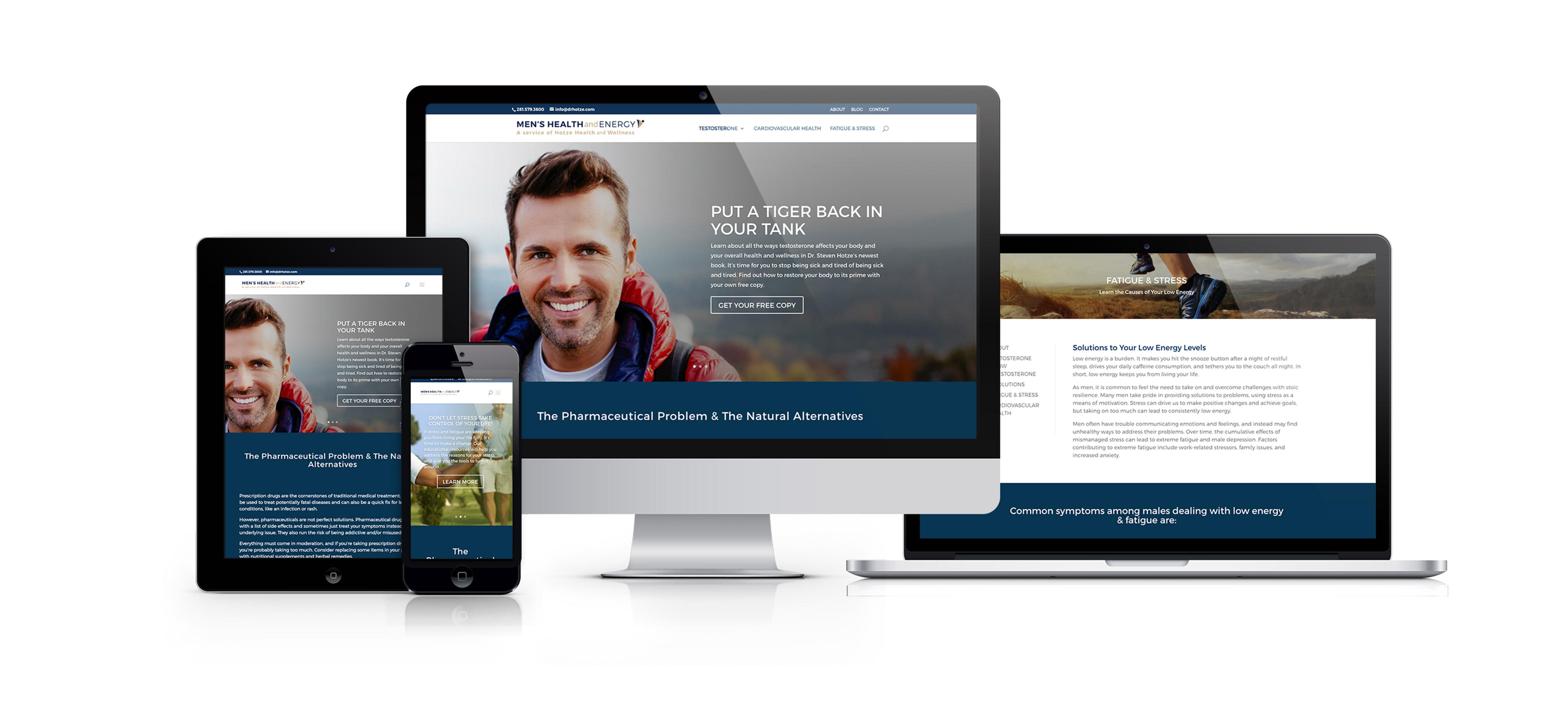 Mens Health & Wellness.org Responsive Website