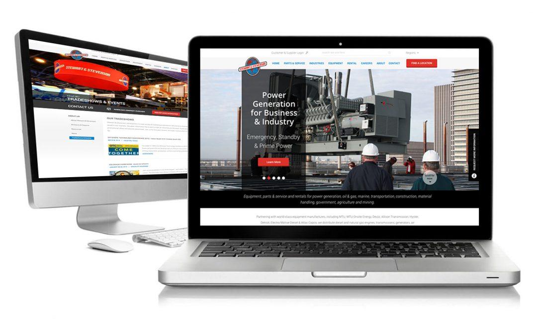 Stewart & Stevenson Website Mock Ups
